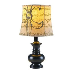 Fangio Lighting - Black Accent Lamp: 17 in. Black Resin Lamp 6155BRN - Shop for Lighting & Fans at The Home Depot. Fangio Lighting's 17 in. tall resin accent lamp. Urn shape in a antique brown finish topped by a Fleur de Lis patterned soft shade. Push thru switch. UL Approved.