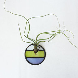 Stained Glass Air Plant Holder, Mod Round 3 By Glass Etc. - Stained glass is a perfect example of colorblocking, but usually it connotes Victorian houses and European churches. However, stained glass can feel modern — as demonstrated in this mini air plant holder.