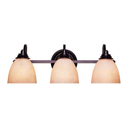 Savoy House - Savoy House Venetian Guild Bathroom Lighting Fixture in Slate - Shown in picture: A strong - dark family with a Slate finish with Cream Scavo Glass