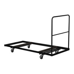 Flash Furniture - Flash Furniture Folding Table Dolly for Rectangular Folding Table - Flash Furniture - Folding Tables - NGDY3072GG - Move your folding tables faster by being able to transport several tables at once. This heavy duty dolly is very durable and designed especially for commercial use. The folding table dolly will enable you to quickly set up and take down your events in much less time with much less work. If you are looking forward to achieving increased productivity when it comes to setting up your next event you need a stack chair dolly. [NG-DY3072-GG]