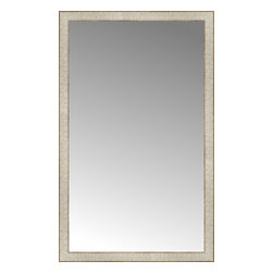 "Posters 2 Prints, LLC - 28"" x 45"" Libretto Antique Silver Custom Framed Mirror - 28"" x 45"" Custom Framed Mirror made by Posters 2 Prints. Standard glass with unrivaled selection of crafted mirror frames.  Protected with category II safety backing to keep glass fragments together should the mirror be accidentally broken.  Safe arrival guaranteed.  Made in the United States of America"