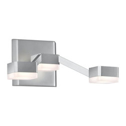 Sonneman Lighting - Sonneman Lighting 2320.16W Lattice 3-Light LED Sconce In Bright Satin Aluminum - Sonneman Lighting 2320.16W Lattice 3-Light Led Sconce In Bright Satin Aluminum