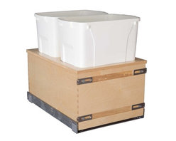"""Century Components - Century Components 50 Qt Double Soft Close Pull Out Waste Bin - Birch, 14-7/8"""" - 50 Qt Double Soft Close Blum Bottom Mount Kitchen Pull Out Waste Bin Container - 14-7/8"""" W x 23-5/8"""" H x 22-1/2"""" D. This unit is designed to be inserted into a new or existing cabinet with an opening width of 15-1/4""""-18"""". Century Components CASBM14PF-50 is made from Baltic Birch Plywood with Dovetail Construction with a clear natural finish for great appearance, quality and durability."""