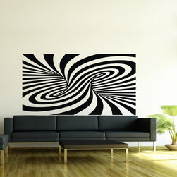 ColorfulHall Co., LTD - Art Decoration Strip Design Modern Geometric Swirl Stripe Wall Decals - You will find hundreds of affordable peel - and - stick wall decal designs, suitable for all kinds of tastes and every room in your house, including a children's movie theme, characters, sports, romantic, and home decor designs from country to urban chic. Different from traditional decals, vinyl wall decals is with low adhesive that allows you to reposition as often as you like without damaging the paint. Application is easy: peel offer the pre-cut elements on the design with a transfer film, and then apply it to your wall. Brighten your walls and add flair to your room is just as easy.