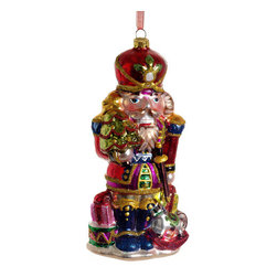 Silk Plants Direct - Silk Plants Direct Glass Nutcracker Ornament (Pack of 6) - Silk Plants Direct specializes in manufacturing, design and supply of the most life-like, premium quality artificial plants, trees, flowers, arrangements, topiaries and containers for home, office and commercial use. Our Glass Nutcracker Ornament includes the following: