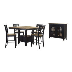 Liberty Furniture Al Fresco II 6 Piece 54 Inch Square Counter Height Set