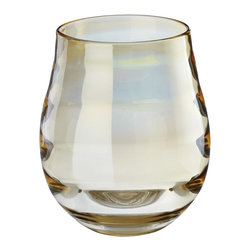 Lazy Susan - Lazy Susan 464034 Golden Ringlet Vase - Small - Choose a regal bunch of flowers for this vase. It's handcrafted from glass and features a warm golden tint. The combination will look very stately on your dining room table.