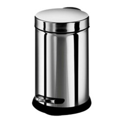 WS Bath - WS Bath Collections Treadle Dust Pin 8 Gallon Trash Can Multicolor - OTEL 53297. - Shop for Wastebaskets from Hayneedle.com! Tidy up the bathroom trash with the small sleek WS Bath Collections 3 Liter Treadle Dust Pin. Crafted with durable stainless steel in a shiny gray chrome finish this round trash bin is conveniently sized to fit into nooks and little spaces. Press the treadle to open the lid and change liners without dirtying your hands.About WS Bath CollectionsA tradition of fine handcraftsmanship warmth of material and beauty of design characterizes this company's exclusive collection of fine bathroom and kitchen products. The collections include innovative and distinctive sinks washbasins washstands bathtubs bathroom furniture and complementary accessories that provide inspirational solutions for every imaginable decor.