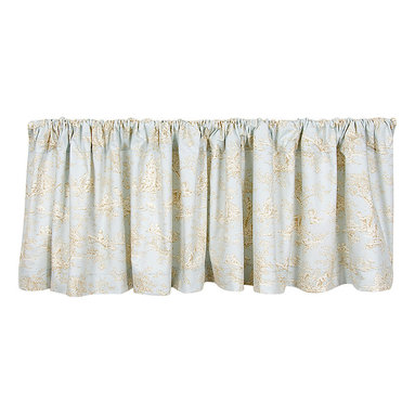 Glenna Jean - Glenna Jean Window Valance Toile - Central Park - The Glenna Jean Window Valance Toile Approximately 70x18 - Central Park is made of 60 cotton and 40 polyester. Care instructions hand wash or machine wash cold in Gentle cycle hang to dry and fluff in knit cycle.
