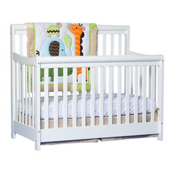 Stork Craft - Stork Craft Cadenza 4-in-1 Fixed Side Convertible Crib in White - Stork Craft - Cribs - 04567161 - Borrowing from neoclassic design the Stork Craft Cadenza 4 in 1 crib finds its grace with its elegant lines and handsome rounded rails.  Pair it with any of Stork Craft's dresser collections to complete your nursery.