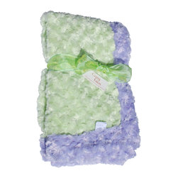 Lavender/Sage Baby Blanket - This throw blanket is supremely soft and cozy while its two-tone color scheme keeps it looking elegant and sophisticated in any nursery. Buy this blanket for your baby or give as a shower gift to expectant parents. They'll be sure to love and cherish it for years.