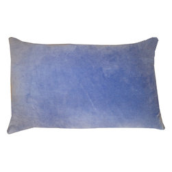 JITI - Small Violet Velvet Pillow - Who can resist a classic? With this velvet throw pillow, available in oodles of sizes and colors, you won't have to! Ideal for mixing and layering, go ahead and experiment. Change your look as often as you can move this one here, and that one there. Anywhere it lands, it's a perfect fit.