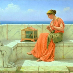 Wallmonkeys Wall Decals - Fine Art Murals Sweet Sounds by John William Godward  - 48 Inches W x 36 Inches - Easy to apply - simply peel and stick!