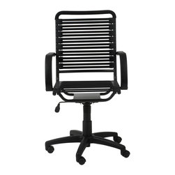 Euro Style - Euro Style Bungie Flat High Back Office Chair 02570BLK - Designed to fit your seat. And your back. And your work style. With natural ventilation, the Bungies turn long hours of work into the comfort zone.