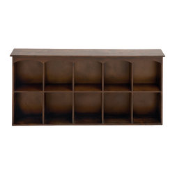 Benzara - Traditional and Lovely Inspired Sleek Wood Wall Shelf Home Accent Decor - Traditional and lovely inspired sleek wood wall shelf living dining and family room home accent decor