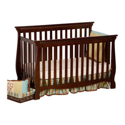 Stork Craft - Stork Craft Venetian 4-in-1 Fixed Side Convertible Crib in Espresso - Stork Craft - Cribs - 04587139 - Experience nursery luxury at its very best with the Venetian 4 in 1 Fixed Side Convertible Crib by Stork Craft.This is a classic crib with graceful elegant curves and timeless design. The construction of the Venetian is sturdy the finish is gorgeous the design is stunning and the value is impressive. With secure static side rails this piece provides the ultimate in stability and function. This crib will grow with your child as it converts from a full size crib to a toddler bed to a daybed to a full-size bed (bed rails not included). Set-up this timeless piece effortlessly with its simple easy to follow assembly directions. Complete your nursery look by adding a Stork Craft changing table chest dresser or glider and ottoman.