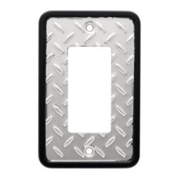 Liberty Hardware - Liberty Hardware 135860 Diamond Plate WP Collection 3.15 Inch Switch Plate - A simple change can make a huge impact on the look and feel of any room. Change out your old wall plates and give any room a brand new feel. Experience the look of a quality Liberty Hardware wall plate. Width - 3.15 Inch, Height - 4.9 Inch, Projection - 0.2 Inch, Finish - Polished Chrome, Weight - 0.14 Lbs.