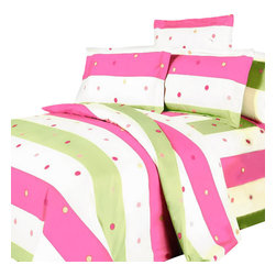 Blancho Bedding - Blancho Bedding - [Colorful Life] 100% Cotton 3PC Sheet Set (Twin Size) - Three-piece set for Twin size (consisting of a pillowcase, a fitted sheet and a flat sheet)