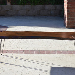 Live Edge Slab Bench - Reclaimed Live Edge Bench