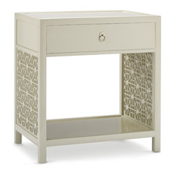 Baker Furniture - Lattice Bedside Table -