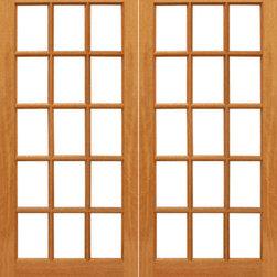 "15-lite Interior Brazilian Mahogany IG Glass Double Door - SKU#15-lite-2BrandAAWDoor TypeInteriorManufacturer CollectionInterior French DoorsDoor ModelDoor MaterialWoodWoodgrainMahoganyVeneerPrice620Door Size Options2(14"") x 80"" (2'-4"" x 6'-8"")  $02(18"") x 80"" (3'-0"" x 6'-8"")  $02(30"") x 80"" (5'-0"" x 6'-8"")  +$1802(32"") x 80"" (5'-4"" x 6'-8"")  +$1802(36"") x 80"" (6'-0"" x 6'-8"")  +$180Core TypeSolidDoor StyleDoor Lite StyleFull Lite , 15 LiteDoor Panel StyleOvolo StickingHome Style MatchingCraftsman , Colonial , Cape Cod , VictorianDoor ConstructionEngineered Stiles and RailsPrehanging OptionsPrehung , SlabPrehung ConfigurationDouble DoorDoor Thickness (Inches)1.75Glass Thickness (Inches)1/2Glass TypeDouble GlazedGlass CamingGlass FeaturesInsulated , Tempered , low-E , Beveled , DualGlass StyleClear , White LaminatedGlass TextureClear , White LaminatedGlass ObscurityNo Obscurity , High ObscurityDoor FeaturesDoor ApprovalsFSCDoor FinishesDoor AccessoriesWeight (lbs)680Crating Size25"" (w)x 108"" (l)x 52"" (h)Lead TimeSlab Doors: 7 daysPrehung:14 daysPrefinished, PreHung:21 daysWarranty1 Year Limited Manufacturer WarrantyHere you can download warranty PDF document."