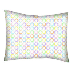 SheetWorld - SheetWorld Twin Pillow Case - Percale Pillow Case - Pastel Colorful Rings Woven - Twin pillow case. Made of an all cotton flannel fabric. Side Opening. Features the one and only pastel colorful rings woven!