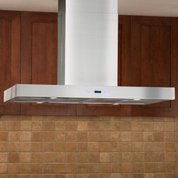 """36"""" Treviso Series Stainless Steel Island Range Hood - 860 CFM - Vent the air in your kitchen effectively by installing this range hood above your island cooktop. Made of stainless steel, the design of the 36"""" Treviso Series features sleek, contemporary lines to coordinate with your modern appliances."""