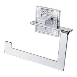 ZEN DESIGN - Diamond Toilet Paper Holder Polished Chrome - The Glamour Of Swarovski Crystals In Contemporary Forms