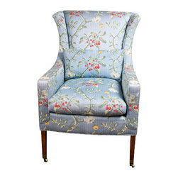 Scalamandre - Consigned - Lauren Wing Chair - Vintage Used - Lauren Wing Chair.  Produced by Scalamandre.  Vintage Used.