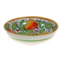 Ceramic - Umbria - Italian Fruit Ceramic Bowl - Italian Fruit 11e Ceramic Bowl