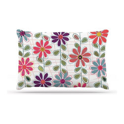 """Kess InHouse - Jolene Heckman """"Fall Flowers"""" Floral Fleece Dog Bed (50"""" x 60"""") - Pets deserve to be as comfortable as their humans! These dog beds not only give your pet the utmost comfort with their fleece cozy top but they match your house and decor! Kess Inhouse gives your pet some style by adding vivaciously artistic work onto their favorite place to lay, their bed! What's the best part? These are totally machine washable, just unzip the cover and throw it in the washing machine!"""