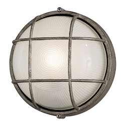 Forecast Lighting - Forecast F90396-65NV Oceanview Silver Outdoor Wall Sconce - Forecast F90396-65NV Oceanview Silver Outdoor Wall Sconce
