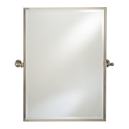 Afina - Afina Radiance Rectangle Gear Tilt Mirror - RM-826-CR - Shop for Bathroom Mirrors from Hayneedle.com! The Afina Radiance Rectangle Gear Tilt Mirror is a classic mirror with excellent function. Featuring a gear-style tilt mechanism the mirror tilts to match your preferences. This oval mirror installs easily and is available in your choice of finish and size. About AfinaAfina Corporation is a manufacturer and importer of fine bath cabinetry lighting fixtures and decorative wall mirrors. Afina products are available in an extensive palette of colors and decorative styles to reflect the trends of a new millennium. Based in Paterson N.J. Afina is committed to providing fine products that will be an integral part of your unique bath environment.