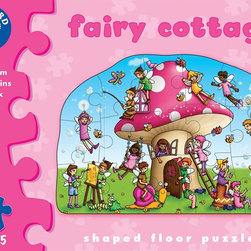 "The Original Toy Company - The Original Toy Company Kids Children Play Fairy Cottage - Find out what the fairies and their mischievous friends are up to as you piece together this charming, colorful puzzle. Includes activity guide and two play-pieces/ Coasters. Ages 2-5 years. Puzzle size- 24""x 16.5"" 15 pieces. Made in England."