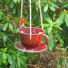 eclectic bird feeders by Etsy