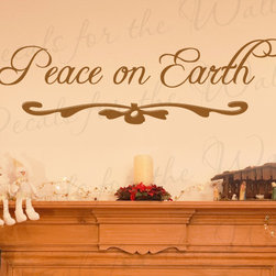 Decals for the Wall - Wall Decal Sticker Quote Vinyl Art Lettering Letter Peace on Earth Christmas C18 - This decal says ''Peace on Earth''