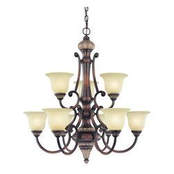 Dolan Designs - Dolan Designs 2642-211 Bonita Yuma Bronze 9 Light Chandelier - Dolan Designs 2642-211 Bonita Yuma Bronze 9 Light Chandelier
