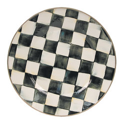 Courtly Check Enamel Dinner Plate | MacKenzie-Childs
