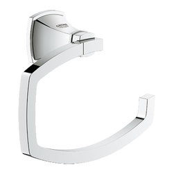 Grohe - Grohe 40625000 Chrome Grandera Series Toilet Paper Holder - Grohe Grandera Toilet paper holder 40625 000. This Grandera Series toilet paper holder features a unique, angled design, and comes with all of the necessary mounting hardware and instructions. This model comes in a bright, StarLight Chrome finish.