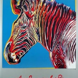 Fab Andy Warhol Official Rare Wildlife Zebra Art Print Popart Pop Art - STUNNING ANDY WARHOL OFFICIAL LIMITED EDITION ENDANGERED WILDLIFE ZEBRA!, This is a wonderful exciting SPECIAL EDITION Lithograph Print Created by Artist Andy Warhol. It is the authorized portrait of wildlife endangered species. Features gorgeous deep rich color tones in this print, excellent! Facsimile plate signed. Made of the very Finest Archival Museum quality Paper and in excellent NEW MINT CONDITION is Highly desirable for collectors. Approved and Authorized by the Andy Warhol Foundation Limited Edition. This is a very large Print reproduction, perfect for any elegant home, office, restaurant or place of business. This unique print measures approx. 32 x 24 inches,