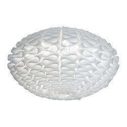 Nuevo Living - Cerebro Large Pendant Light by Nuevo Living - The Cerebro large pendant light by Nuevo is the perfect light for dining tables or other uses around the home or office.  The modern white folds will add a unique look to your home or business.