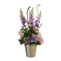 Silk Plants Direct - Silk Plants Direct Hydrangea, Delphinium and Rose (Pack of 1) - Pack of 1. Silk Plants Direct specializes in manufacturing, design and supply of the most life-like, premium quality artificial plants, trees, flowers, arrangements, topiaries and containers for home, office and commercial use. Our Hydrangea, Delphinium and Rose includes the following: