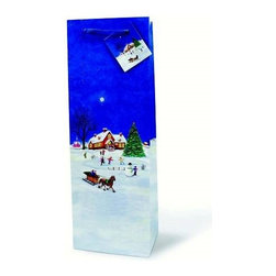 Franmara - Christmas Town Holiday Paper Wine Bottle Gift Bag with Handles - This gorgeous Christmas Town Holiday Paper Wine Bottle Gift Bag with Handles has the finest details and highest quality you will find anywhere! Christmas Town Holiday Paper Wine Bottle Gift Bag with Handles is truly remarkable.