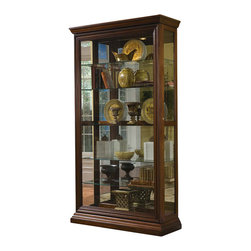 Pulaski - Pulaski Edwardian Two Way Sliding Door Curio - For a stylish way to display china or other keepsakes, Pulaski Edwardian Two Way Sliding Door Curio Cabinet is the perfect must have accent piece.
