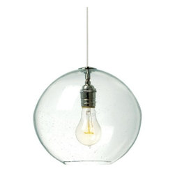 LBL Lighting - LBL Lighting Isla Clear 1 Light Foyer Pendant - LBL Lighting Isla Clear 1 Light Foyer PendantFeaturing an industrial-chic look, this stylish pendant showcases an Clear hand blown organic seeded glass globe. The included 60 watt medium base classic Edison lamp completes the bold turn-of-the-century look that will enhance the style of any home or business.LBL Lighting Isla Clear Features: