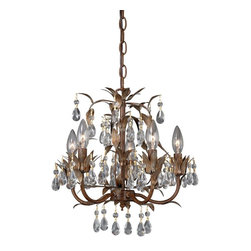 Vaxcel Lighting - Vaxcel Lighting MN-CHU014HP Biella Traditional Mini Chandelier - The new alternative to flush mounts, mini chandeliers create an elegant atmosphere in any room -- from bedrooms to foyers to walk-in closets. Can be installed as a ceiling light.