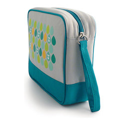 Milkdot - Popdots Go Pouch, Koaro Blue Dots - Popdots Go Pouch is the perfect carryall for everyday or for travel. With one large elastic pocket and three smaller elastic pockets, your items wil be sure to stay in place and stay organized. With its roomy interior, moms can even use the Go Pouch to carry diaper essentials or organize small toys, art supplies and crafts for road trips, outings or errands. It's the versatile pouch for children, teens and women to take on the go for school, work or travel with plenty of room for school supplies, toys, cosmetics, medicine, toiletries, first aid, baby essentials, snacks, drinks and much more!