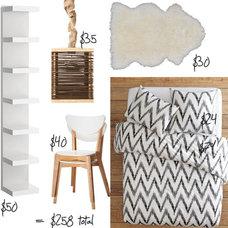 Modern Bedroom Dorm Style: Scandinavian Modern