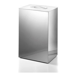 Modo bath secioni 53433 laundry basket with lid white lid secioni by ws bath collections - High end laundry hamper ...