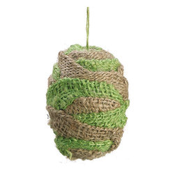 Silk Plants Direct - Silk Plants Direct Burlap Egg Ornament (Pack of 24) - Natural Green - Silk Plants Direct specializes in manufacturing, design and supply of the most life-like, premium quality artificial plants, trees, flowers, arrangements, topiaries and containers for home, office and commercial use. Our Burlap Egg Ornament includes the following: